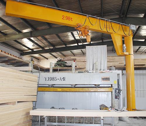 3t8米臂长360度电动变频悬臂吊
